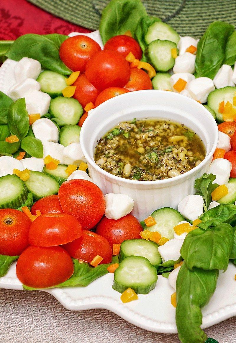 Caprese Salad Xmas 2016