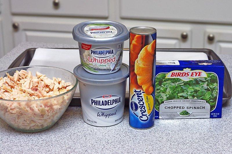 Chicken and Spinach Puffs ingredients