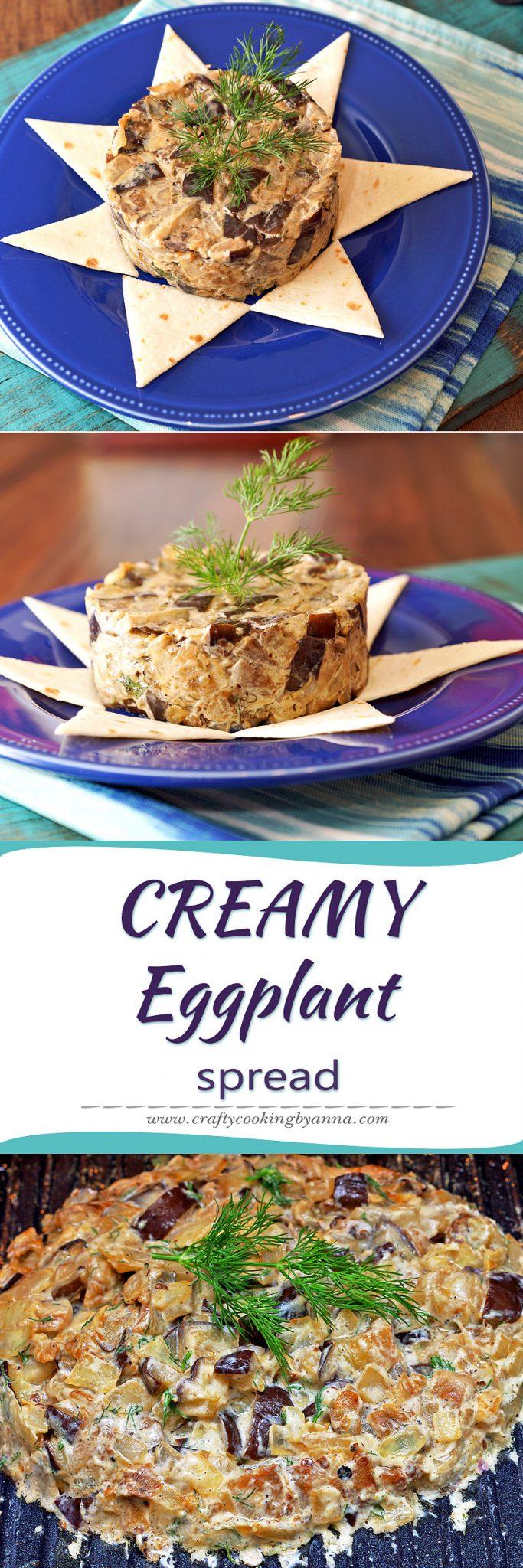 Creamy eggplant spread