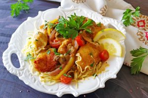 VIDEO RECIPE > Lemon Chicken Piccata over Angel Hair Pasta