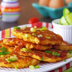 Chicken Veggie Fritters