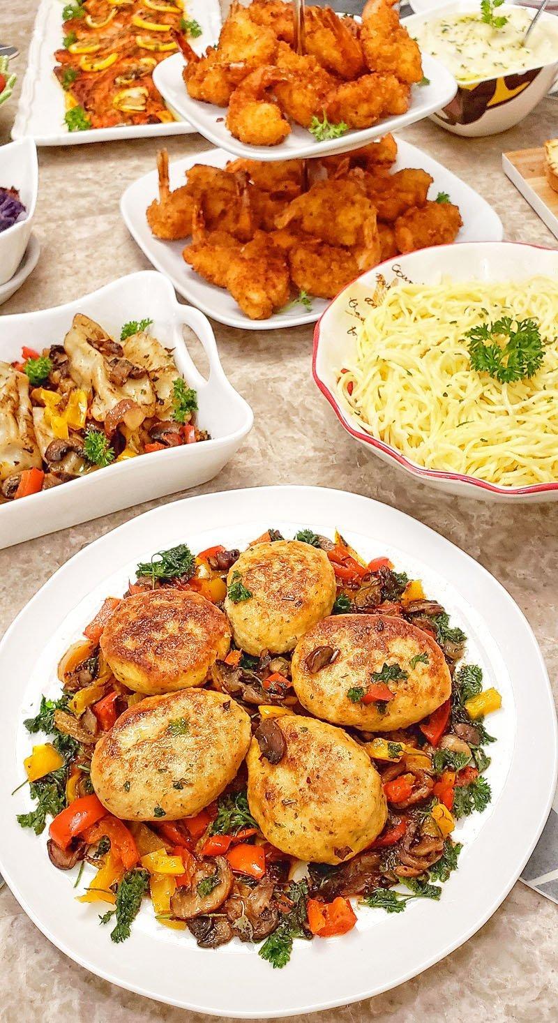 Kotletki and veggies