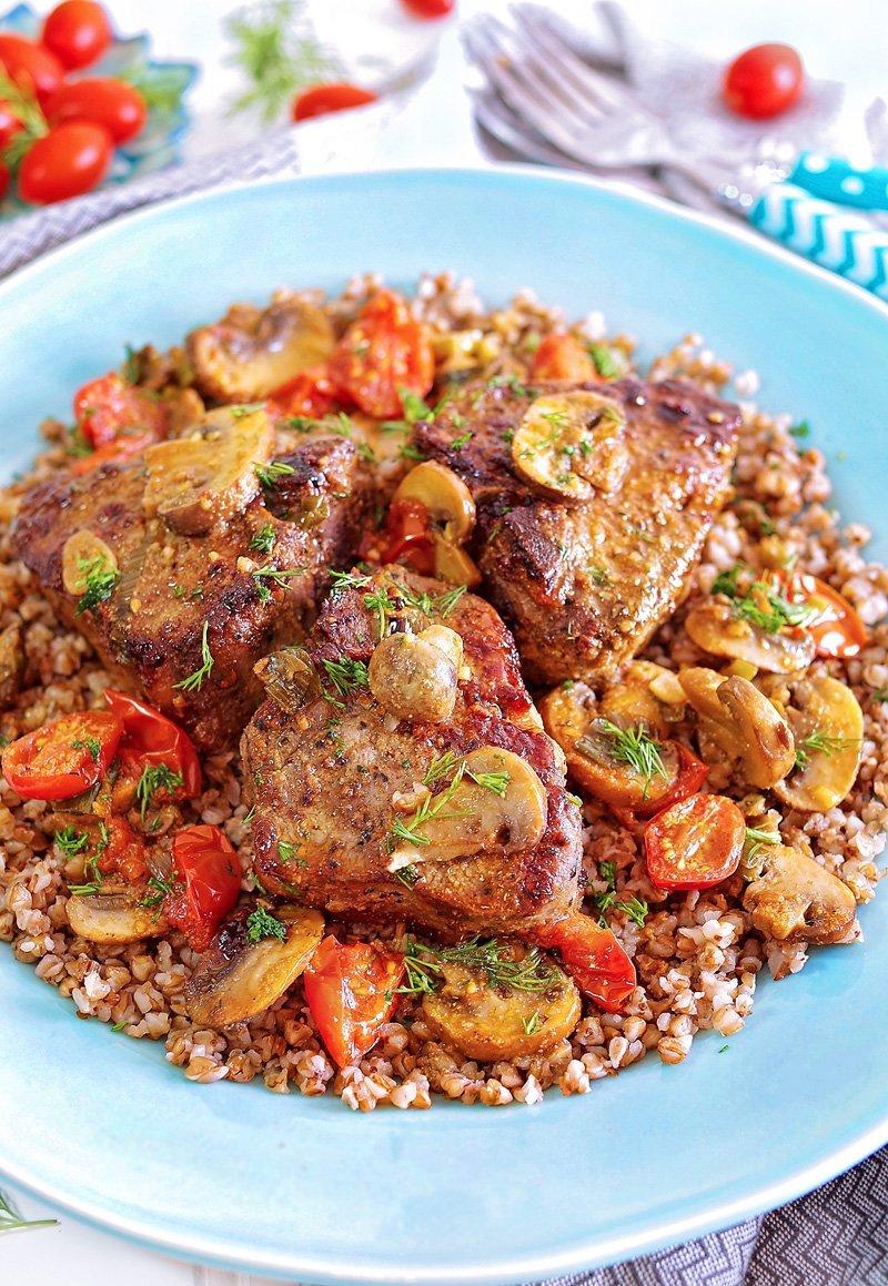 Lamb Loin Chops and Buckwheat