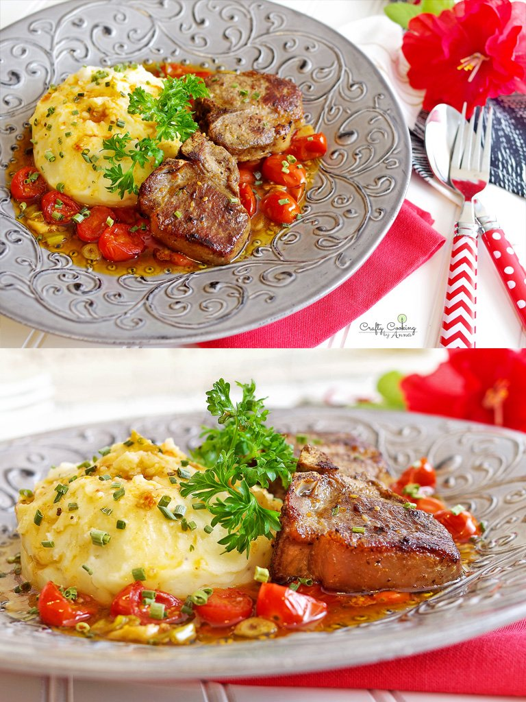 Australian Lamb Loin chops and Mashed potatoes
