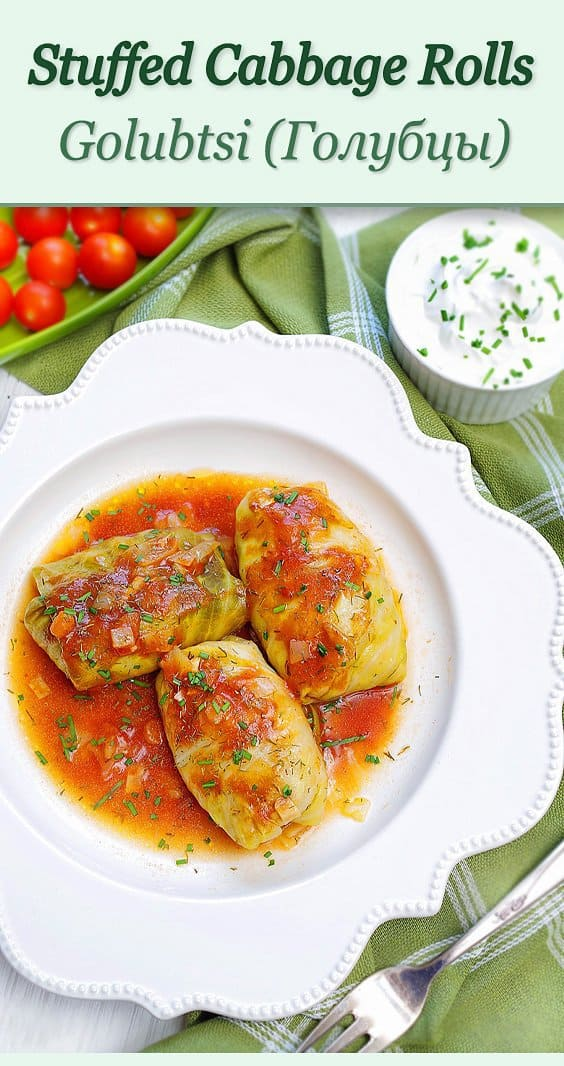 Baked Stuffed cabbage Rolls pin