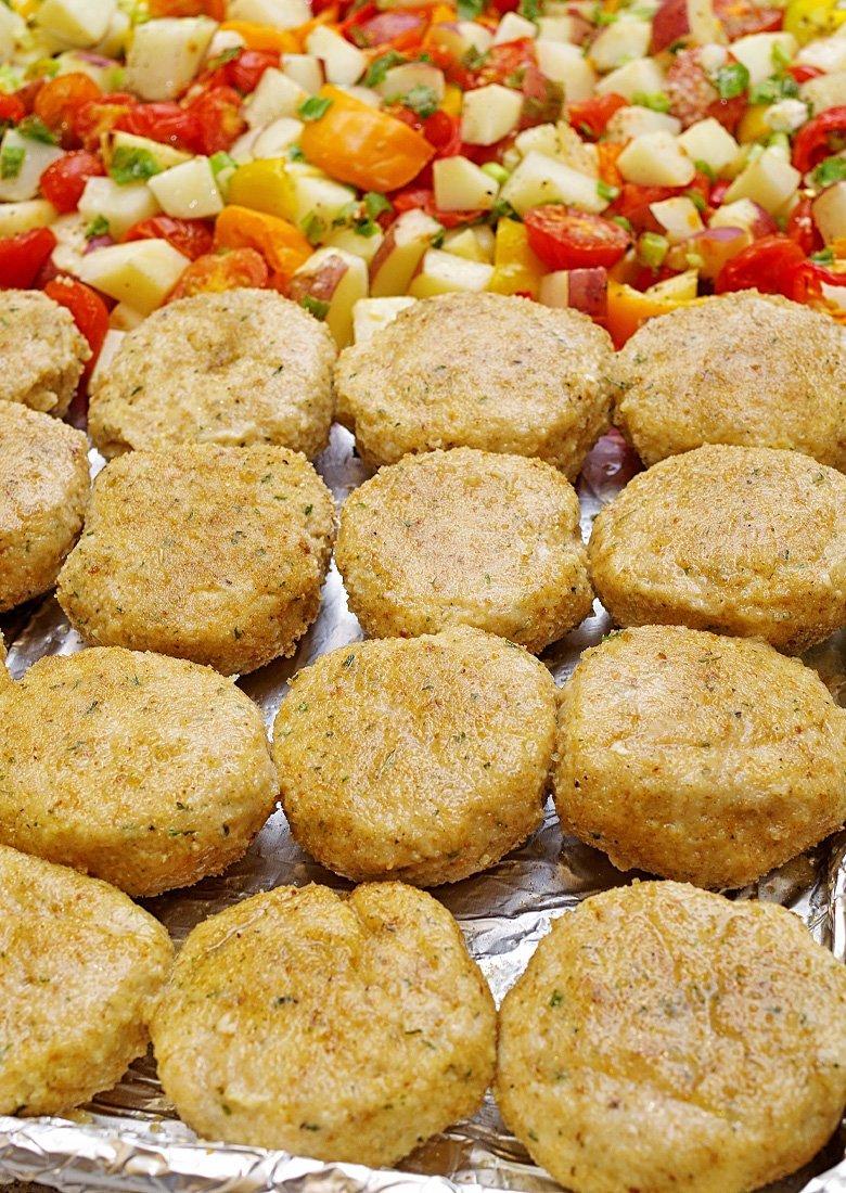 Baked Chicken Patties/Kotletki