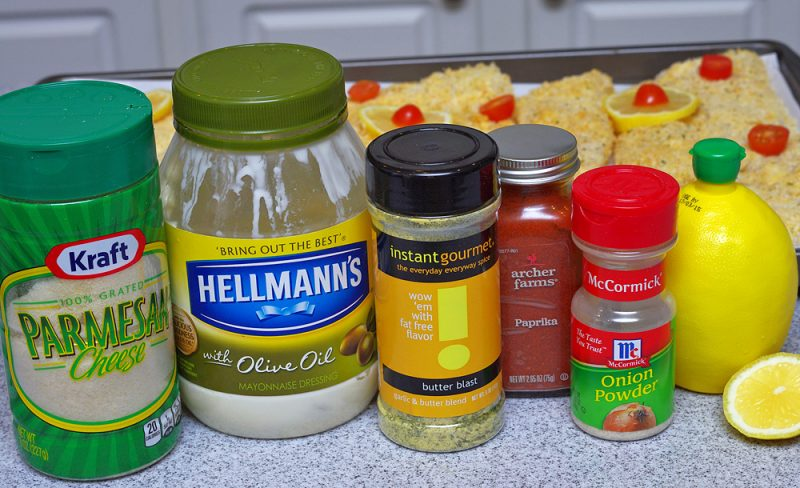 Parmesan Baked Wild Alaskan Cod ingredients