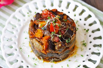 Roasted Eggplant Salad