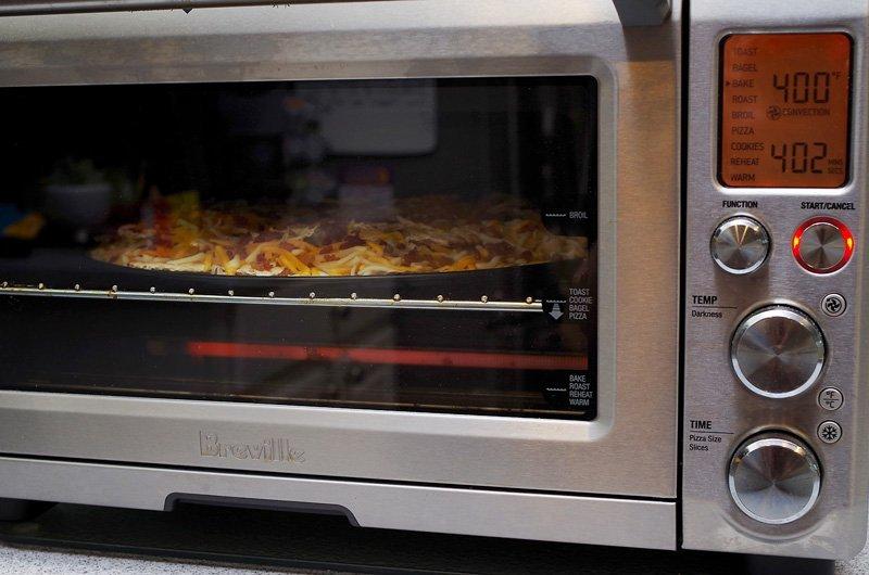 Matzah Nachos baking