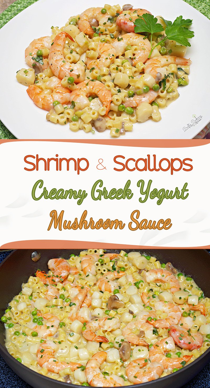 Shrimp And Scallops In Creamy Greek Yogurt And Mushroom Sauce You Are Going To Love This Easy