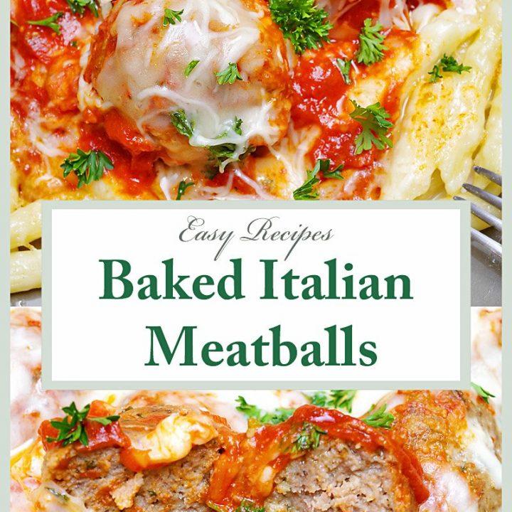 Baked Italian Meatballs Pin