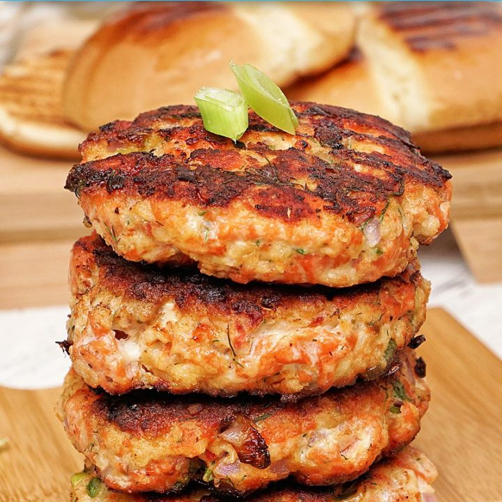 Fresh Salmon Burgers Pin
