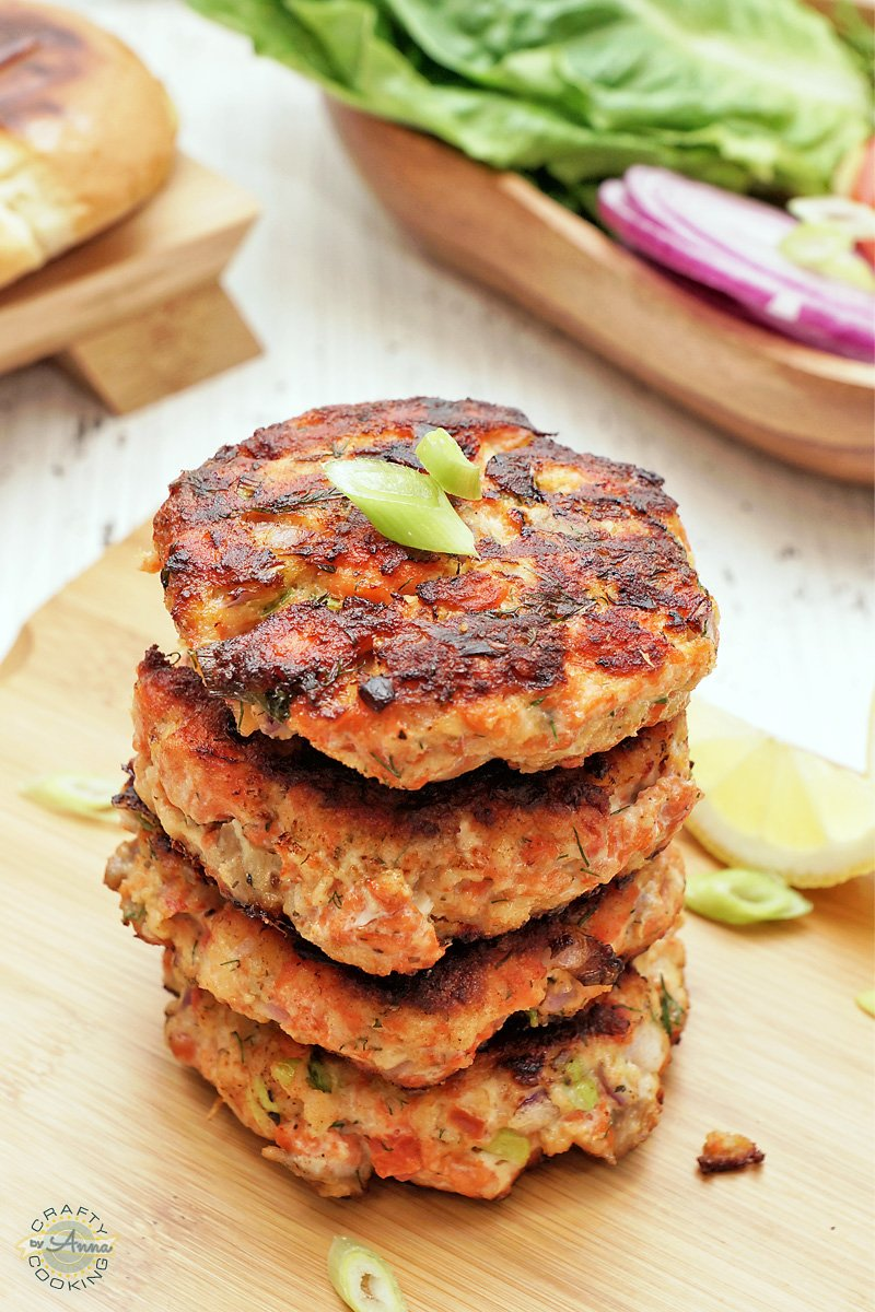 Wild Alaskan Sockeye Salmon Burgers VIDEO RECIPE