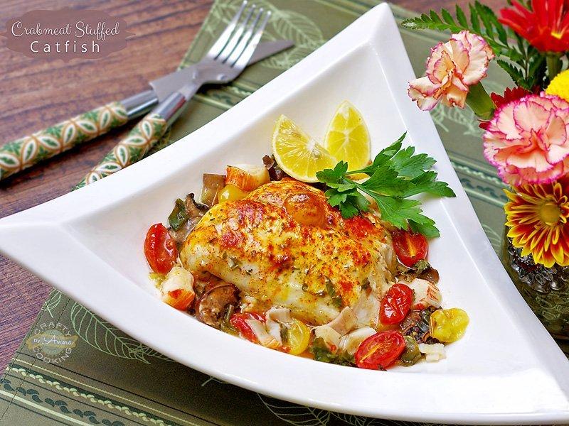 Crabmeat Stuffed Catfish