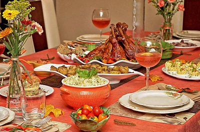 Thanksgiving dinner 2015 table