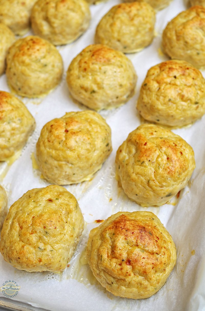 Chicken meatballs baked