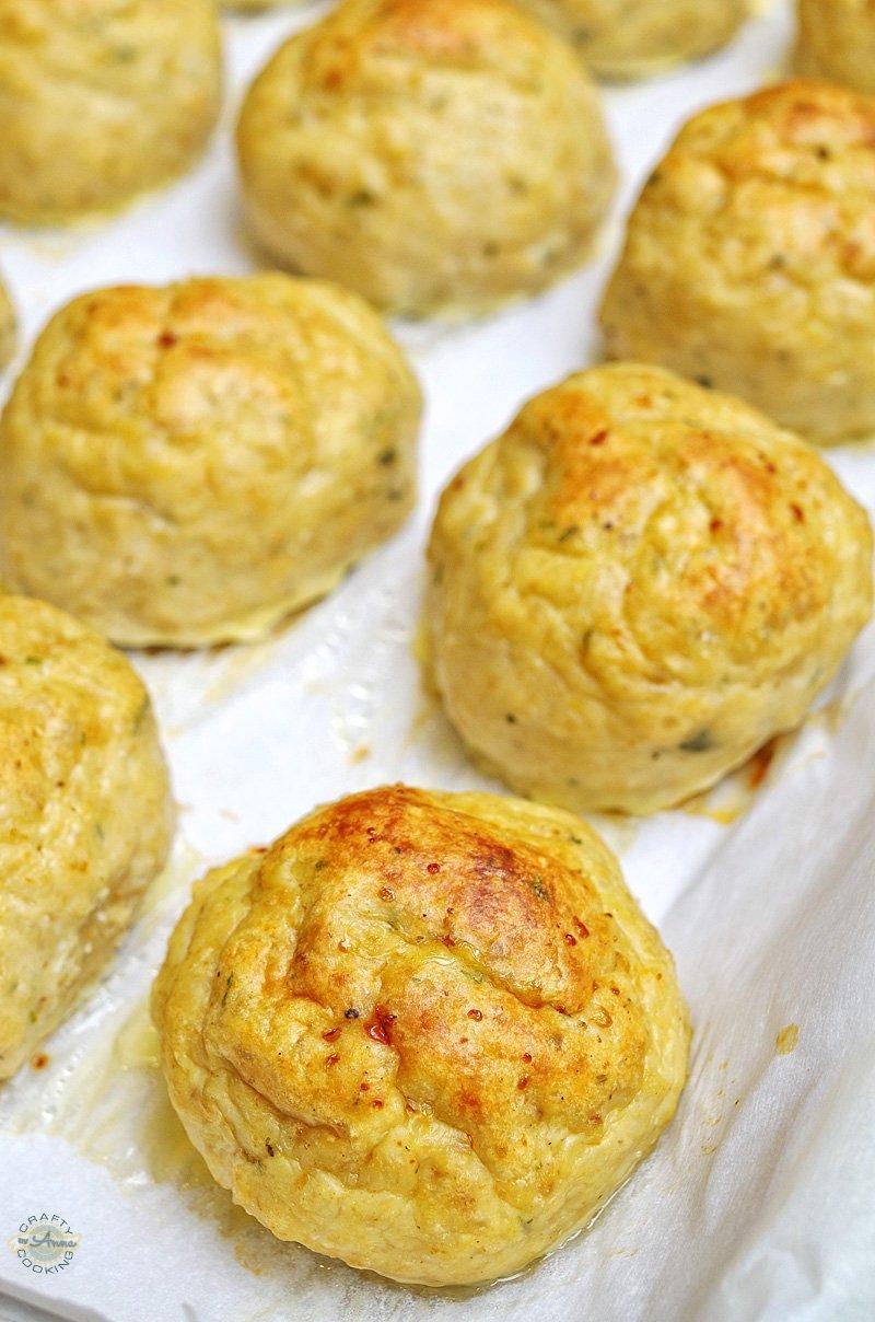 Chicken meatballs baked closeup