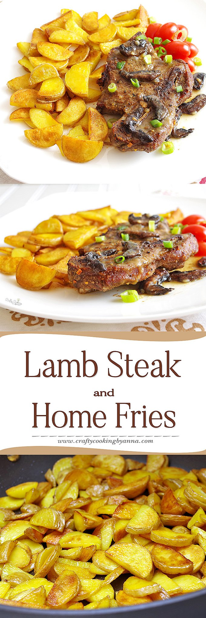 Lamb Steak dinner
