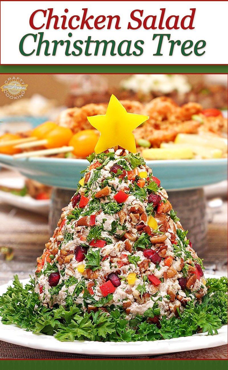 Chicken Salad Christmas Tree Pin