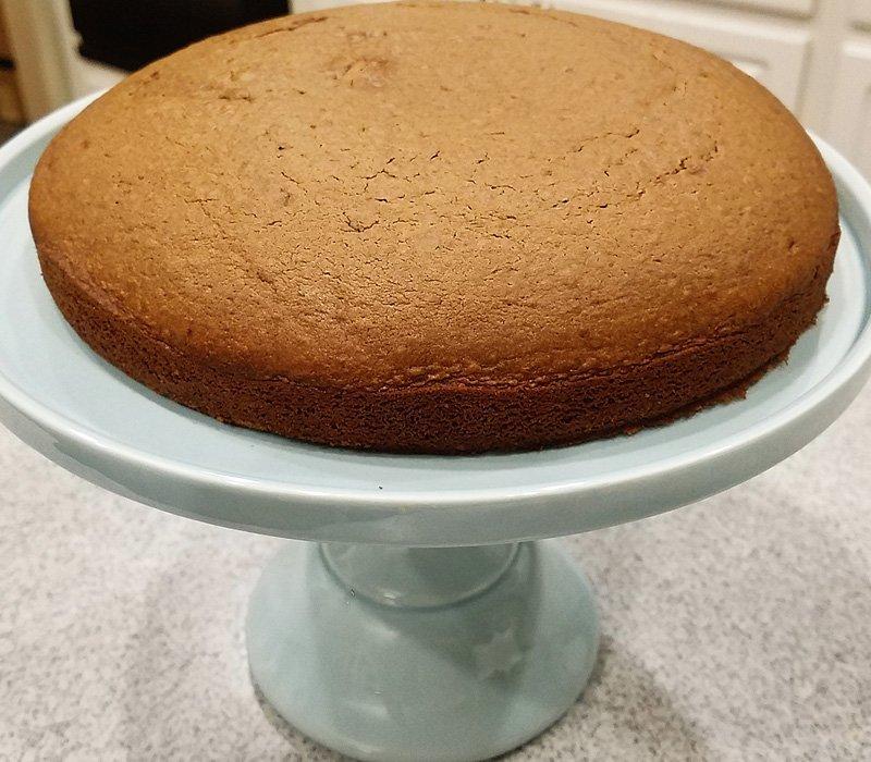 chocolate cake baked