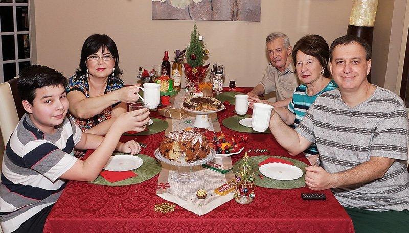 Christmas Dinner 2016 family