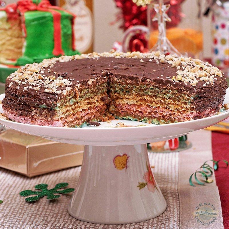 Christmas Dinner 2016 Waffle cake