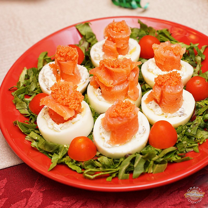 eggs smoked salmon