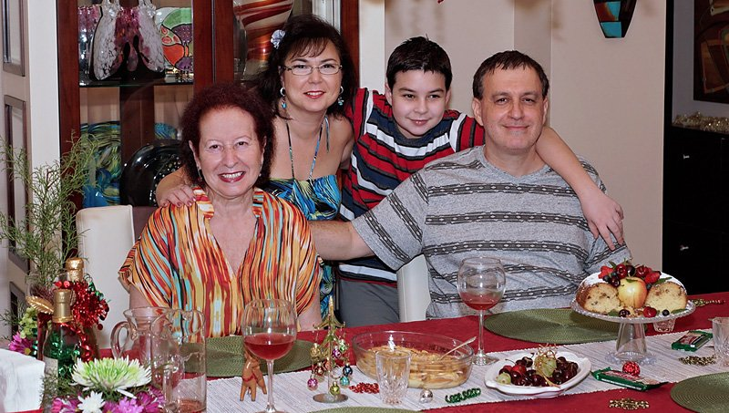 family Christmas Dinner 2015