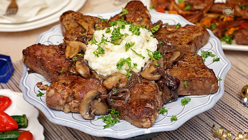 Australian Lamb Loin chops and Mashed potatoes