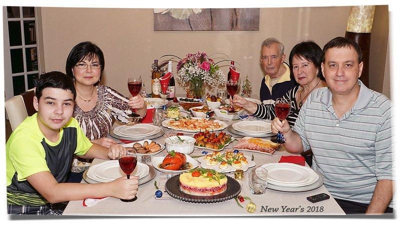 New Years Dinner 2018 family