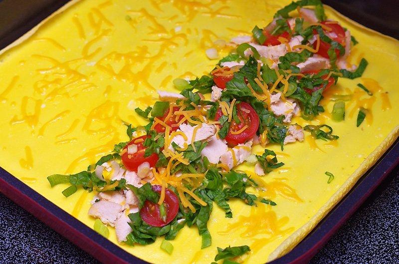 Breakfast Omelet prep