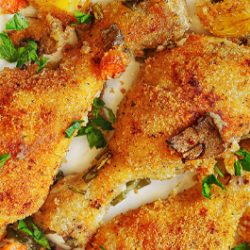 Roasted Garlic-Parmesan Chicken and Potatoes