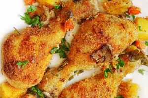 Roasted Garlic-Parmesan Chicken and Potatoes
