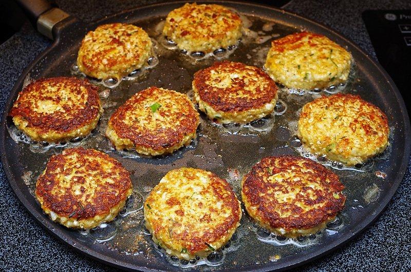 Cauliflower Fritters prep
