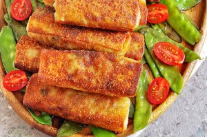 Teriyaki Chicken Cabbage Egg Rolls