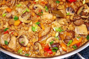 Healthy Tuscany Chicken Farro Stew