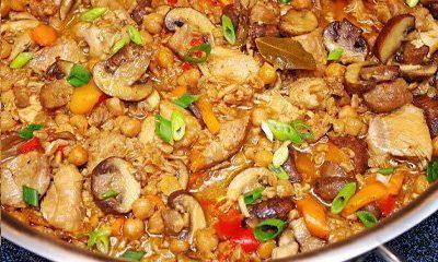 Healthy Tuscany Chicken Farro Stew