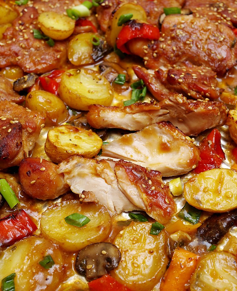 One-Pan Baked Teriyaki Chicken