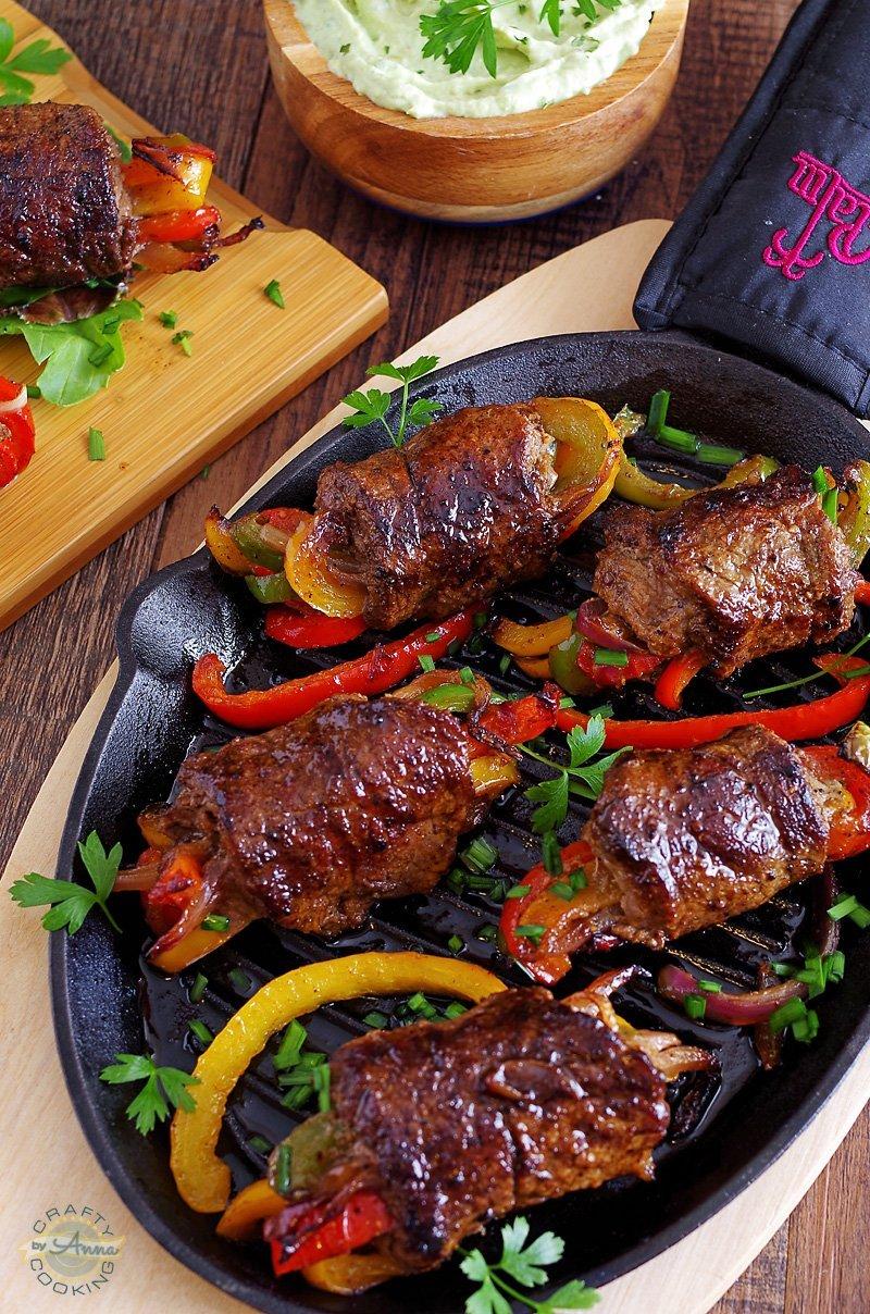Low Carb Steak Fajita Roll-Ups