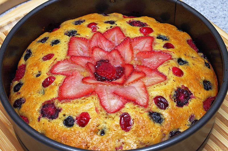 Berry Cake baked