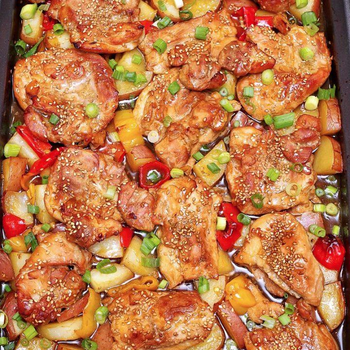 One-Pan Baked Teriyaki Chicken main