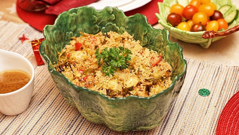 Roasted veggies couscous salad