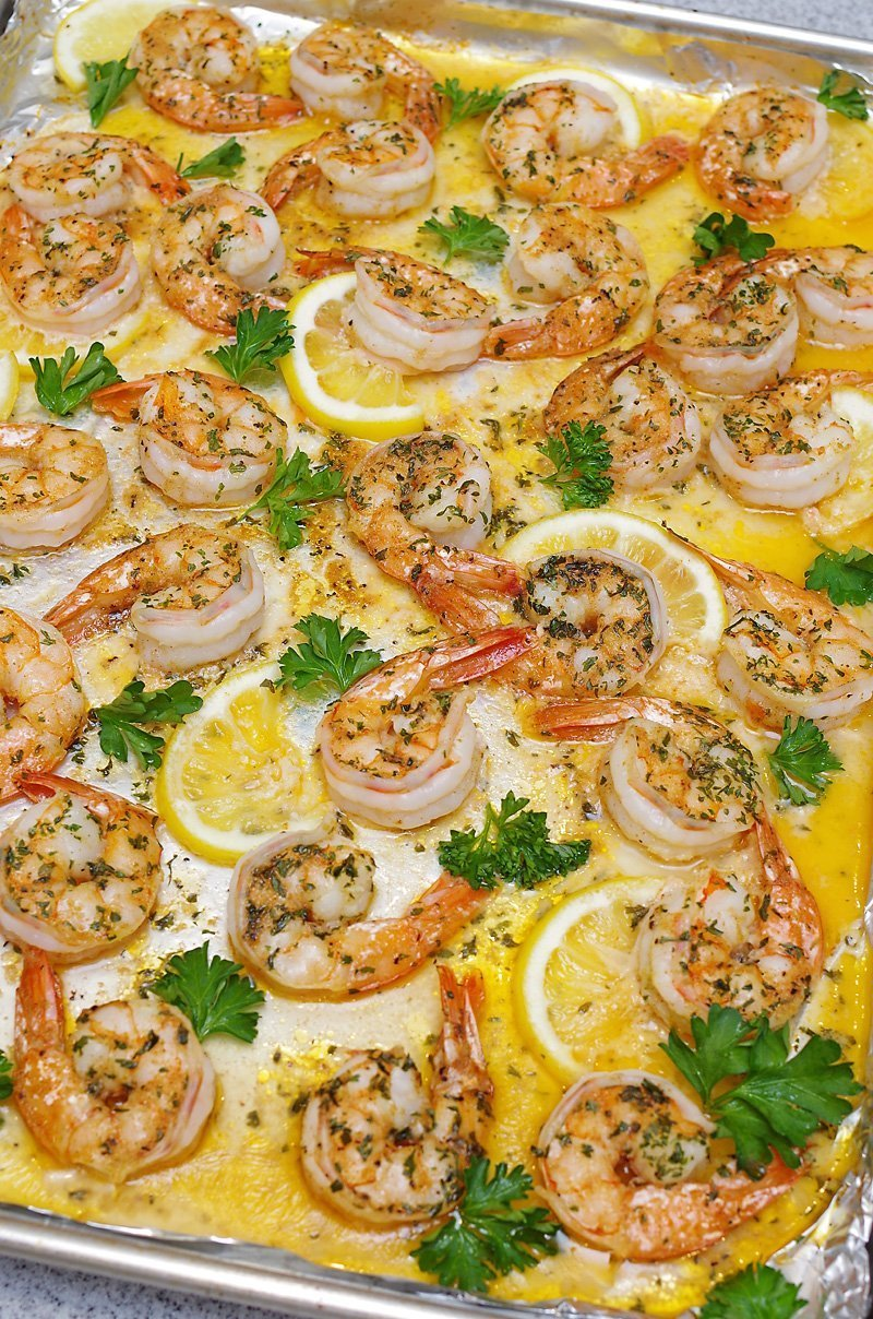 Easy Baked Shrimp Scampi ready