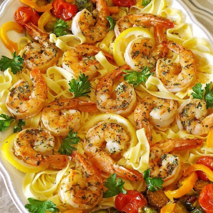 Easy Baked Shrimp Scampi