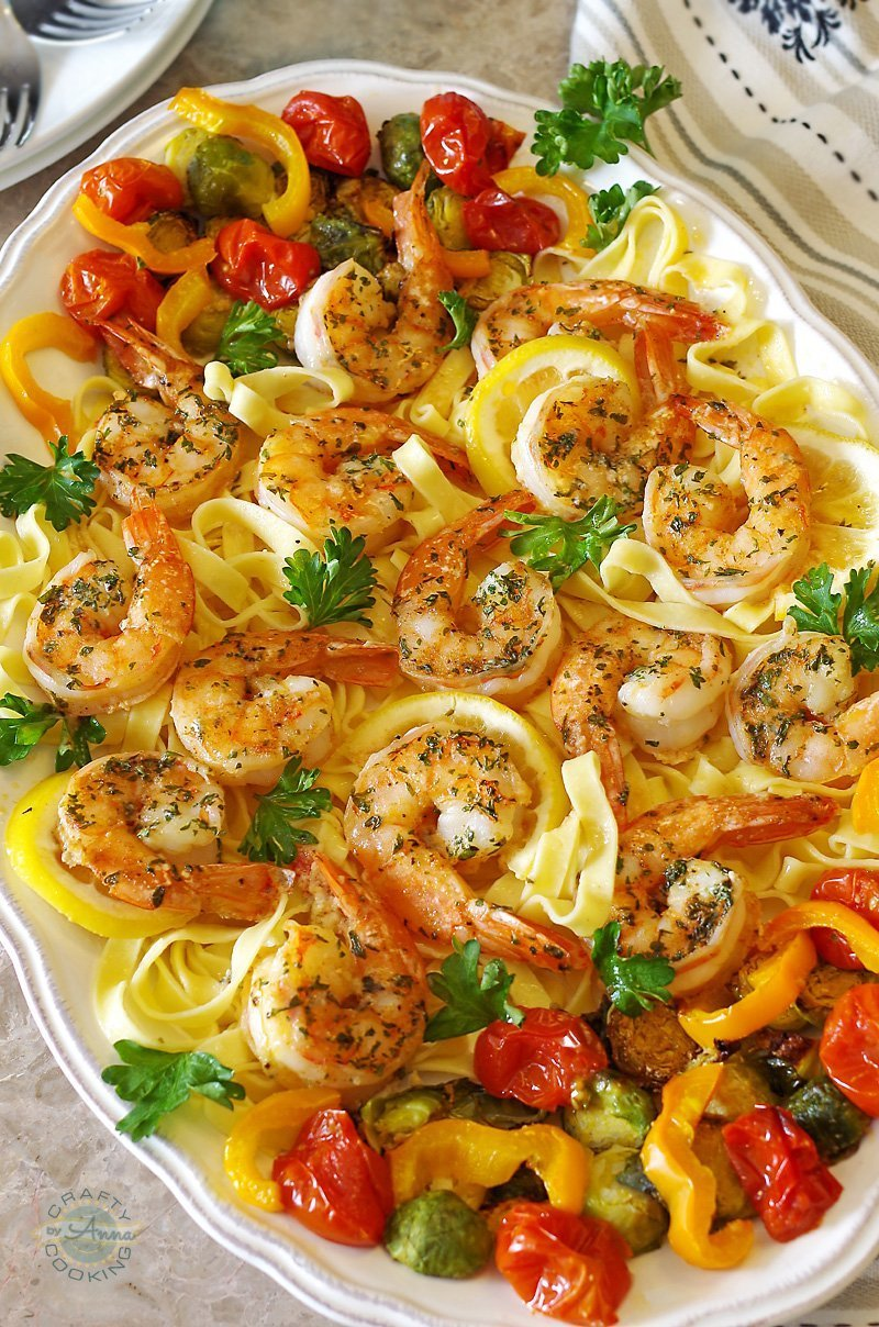 Easy Baked Shrimp Scampi