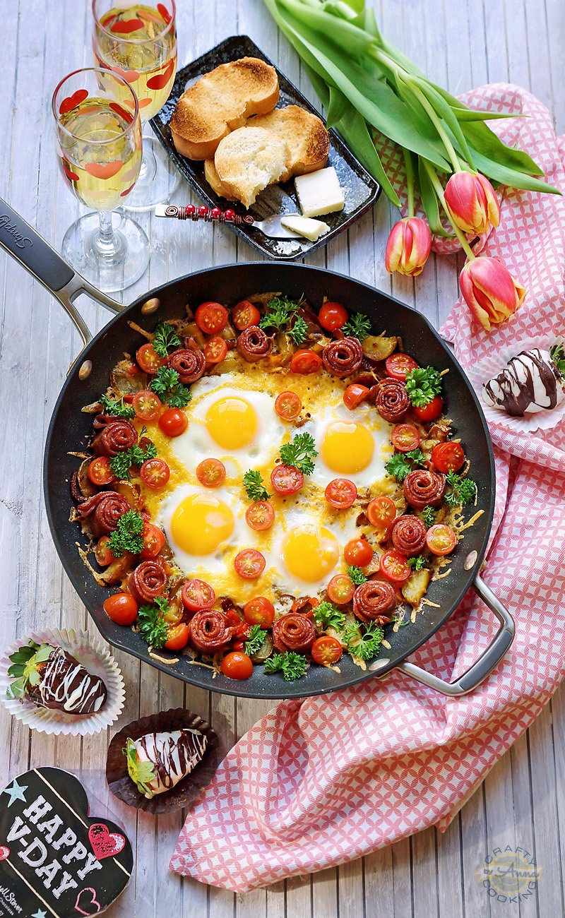 Valentine's Day Shakshuka Breakfast