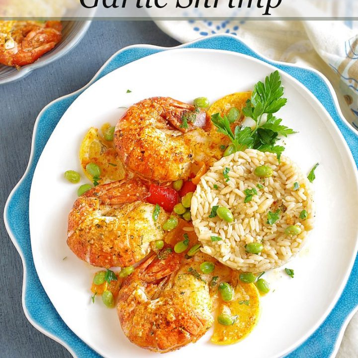 Baked Parmesan Garlic Colossal Shrimp Pin this