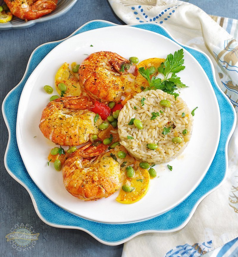 Baked Parmesan Garlic Colossal Shrimp
