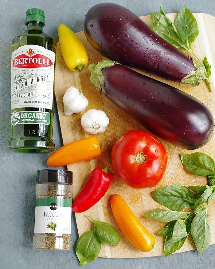 Eggplant Gratin ingredients