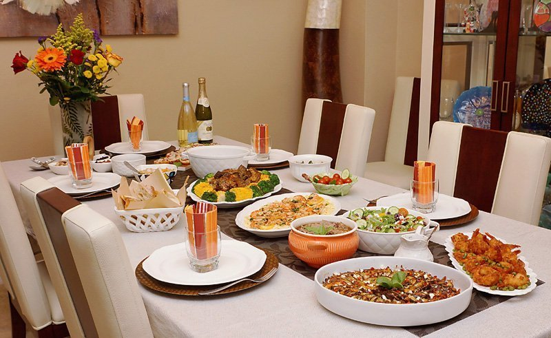 In-laws 56th Anniversary Food Table! I hope you will find these recipes and presentations useful to create special dinners for your family!  RECIPE: https://www.craftycookingbyanna.com/inlaws-56th-anniversary-dinner/  #AnniversaryDinner #EggplantGratin #Ribs #Shrimp #Pasta #Lamb #Salad #CrepeCake #Celebration #Family #GoodFood #Together #Recipes #EasyRecipes #Meals #Cooking #Entertaining #CraftyCookingByAnna